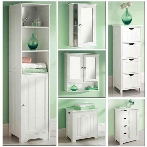 white wooden bathroom cabinet shelf cupboard bedroom storage unit  standing ebay