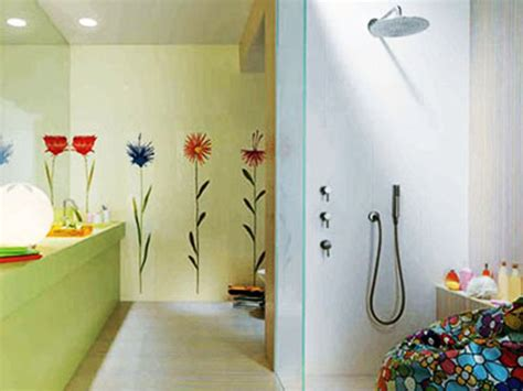 how to paint bathroom walls hand painted wall tiles simple ways to decorate old