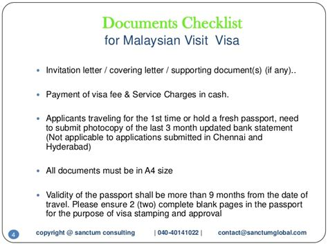 Invitation Letter For Visa In Malaysia Malaysian Visit Visa Sanctum Consulting