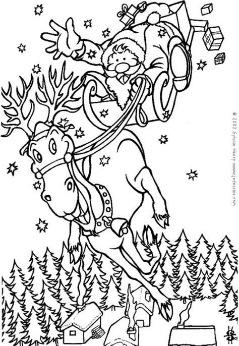 imagenes de santa claus para copiar dibujos para colorear el pap 225 noel en su reno es