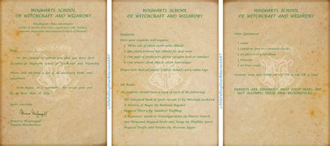 Harry Potter Hogwarts Acceptance Letter Printable Hogwarts Acceptance Letter For Doodeedoodah By Hogwarts