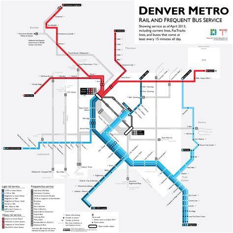 Denver Light Rail Schedule by Learn To The With A Map Of Rtd S Best Routes Denverurbanism
