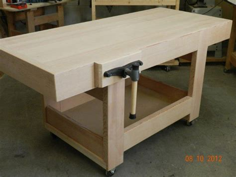 building a workout bench design of the workbench top with mitered skirt rails built