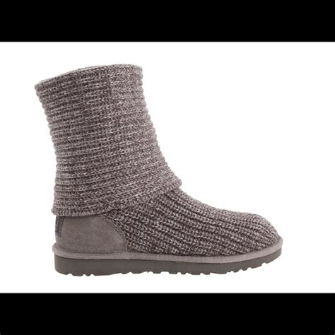 gray knit uggs 42 ugg shoes grey cardy knit uggs from skylar s