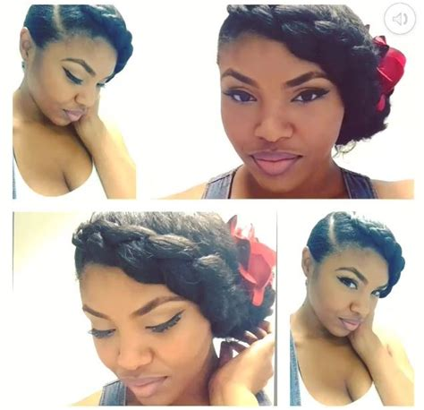 braided pinup hairstyles natural hair updo braid natural hairstyles
