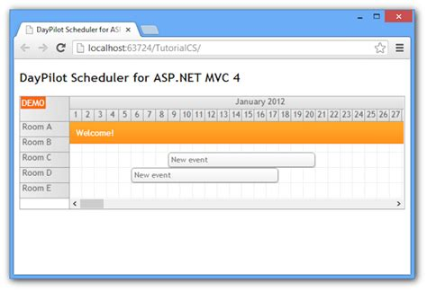 layout exles in mvc 4 scheduler for asp net mvc 4 razor c vb net sql server