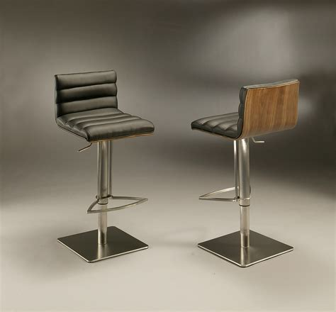 chrome swivel bar stools with back furniture modern swivel bar stool with square chrome metal