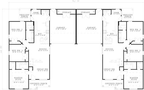 ranch duplex floor plans augusta shores ranch duplex plan 055d 0368 house plans