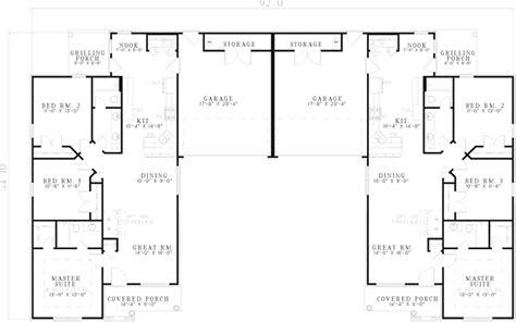 ranch duplex floor plans augusta shores ranch duplex plan 055d 0368 house plans
