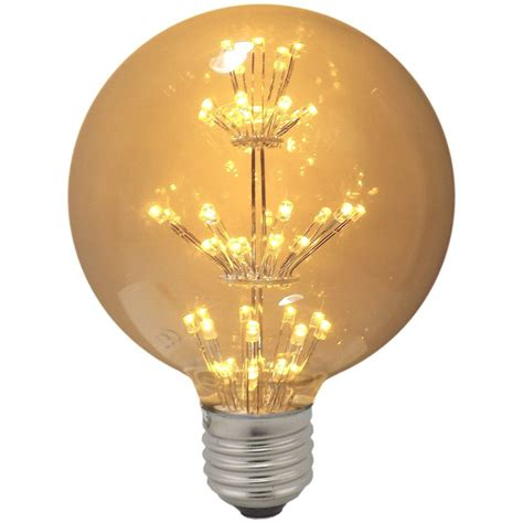 White Globe L by Impact Led Antique Globe Light Bulb 1 3w Es Warm White