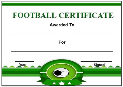 football certificate templates 30 free printable football certificate templates awesome