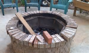 brick outdoor pit cinder block pit inexpensive and attractive ideas
