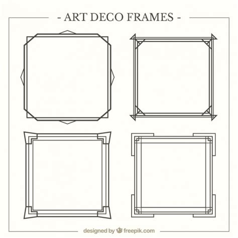 deco templates deco frames pack vector free