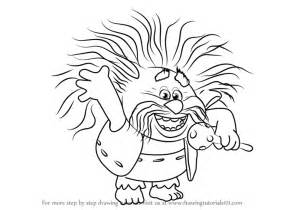 learn how to draw king peppy from trolls trolls step by