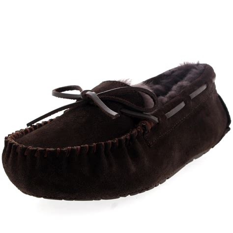 loafer slippers moccasins genuin suede australian sheepskin loafer