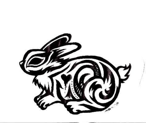 rabbit tribal tattoo designs flying tribal rabbit design photo 2 2017 real