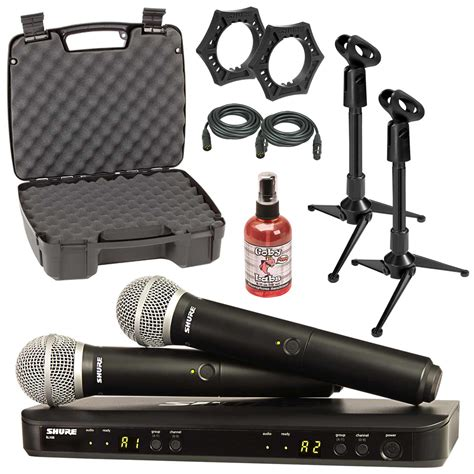 Shure Blx288sm58 Dual Channel Handheld Wireless System Original shure blx288 pg58 dual channel handheld wireless system cables 42406246705 ebay
