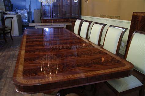 high  extra large long mahogany dining table seats