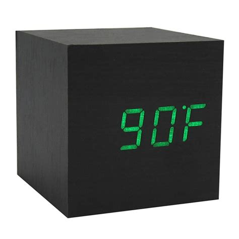 cool digital clocks cool modern squared wooden digital desk alarm clock sound