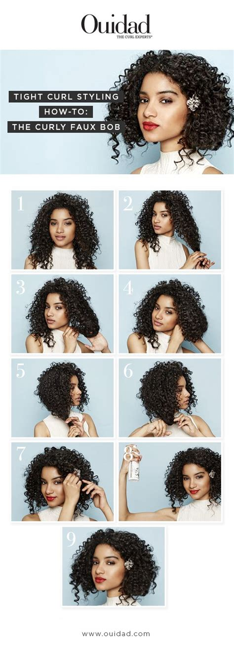 tight curly faux perm steps ouidad tight curl styling how to curly faux bob your