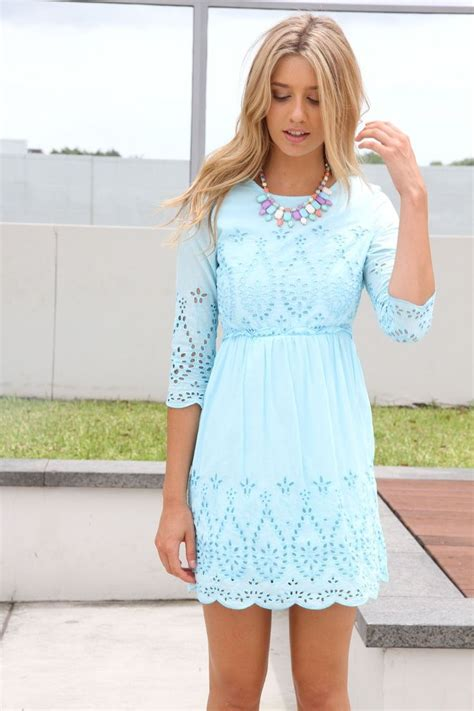 Light Blue Dress by Light Blue Lace Dress Clothes Pastel