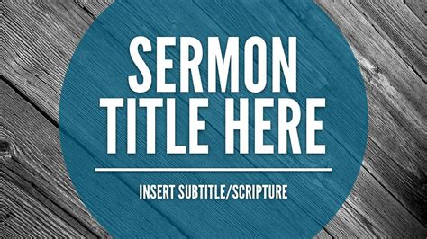 Free Sermon Slide Template The Creative Pastor Sermon Powerpoint Templates Free