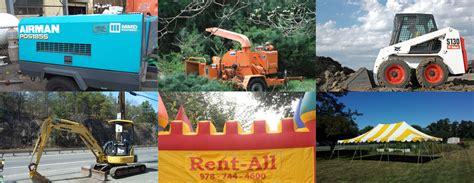 rental equipment rent all