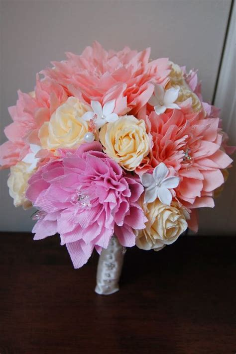 How To Make Paper Flowers Wedding - the beautiful and unique style of paper wedding flowers