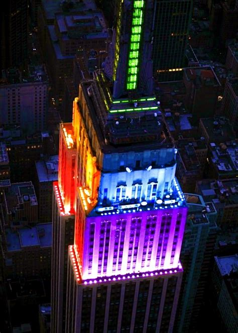empire state building color empire state building color block nyc