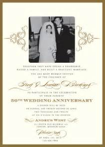 golden 50th anniversary invitation
