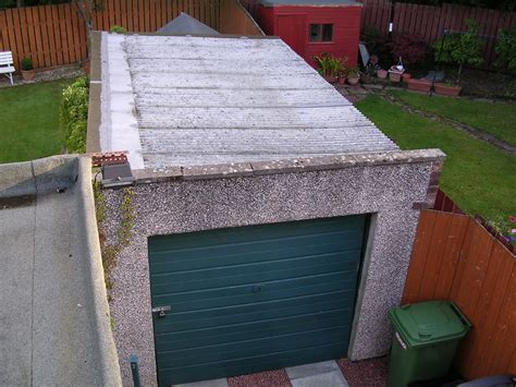 replace garage roof roofing in glasgow lanarkshire