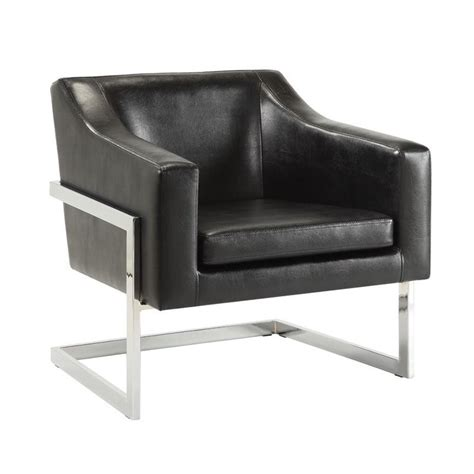 Contemporary Accent Chair Coaster Contemporary Accent Chair With Metal Frame In Black 902538