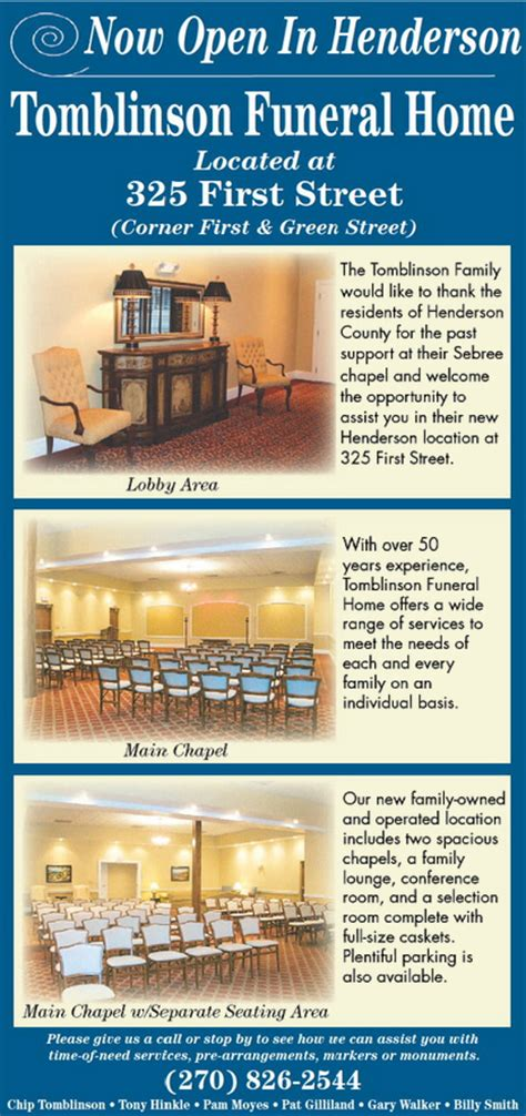 tomblinson funeral home henderson s new funeral home