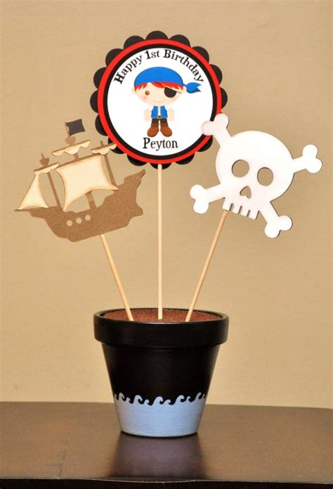 personalized pirate party centerpiece decoration birthday