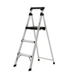rubbermaid 3 step aluminum step stool ladder
