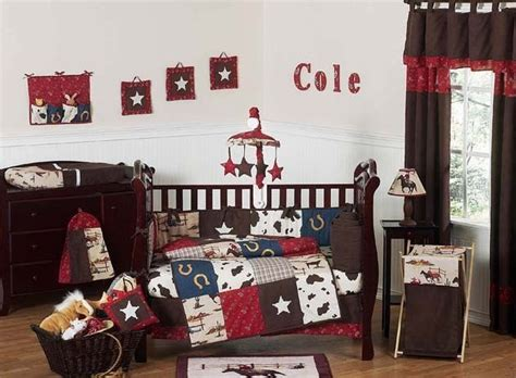 Horse Western Cowboy 9p Baby Crib Bedding Set For Newborn Western Baby Crib Bedding