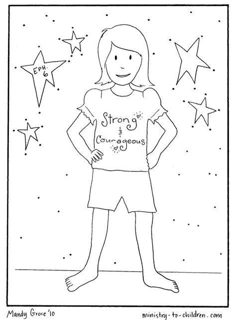 vbs coloring pages armor  god