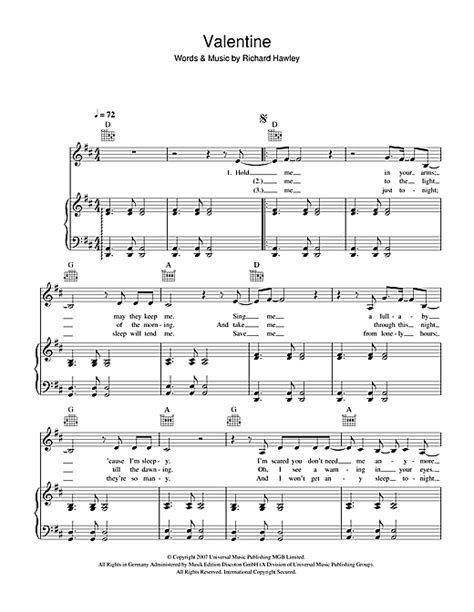 lyrics hawley sheet by richard hawley piano vocal