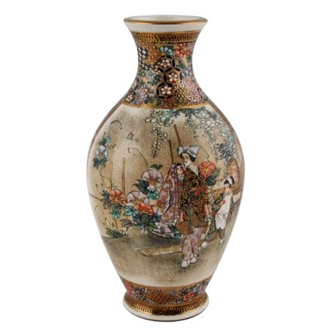 Japanese Pottery Vases by Satsuma Pottery Vase Antique Japanese Vase Antique