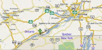 map cornwall ontario possible birthplace of