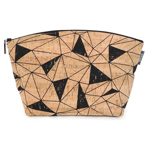 Kingsumo Giveaways - stylish large standing pouch in geo cork