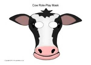 Fil A Cow Mask Template by Printable Farm Animal Masks For Sparklebox