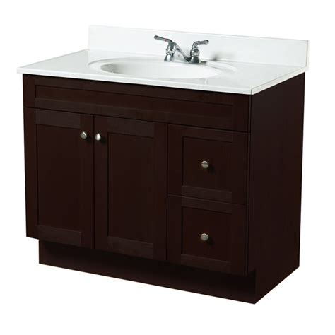 Bathroom Vanity Rona by Quot Everwood Quot Vanity With 2 Doors And 2 Drawers Espresso Rona