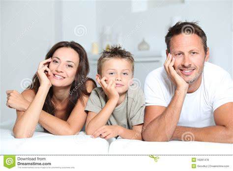 family portrait at home royalty free stock photos image