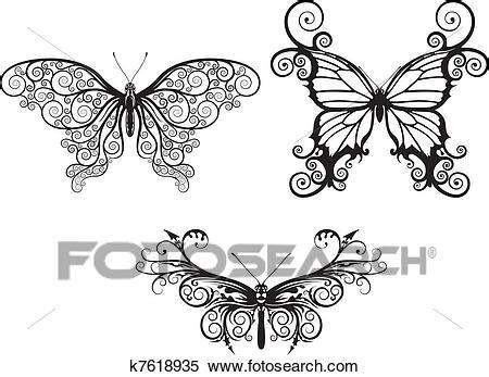 clipart farfalle estratto farfalle clipart k7618935 fotosearch
