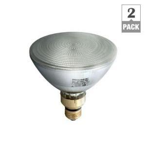 phillips landscape lighting 7 watt philips 90 watt equivalent halogen par38 dimmable indoor outdoor flood light bulb 2 pack