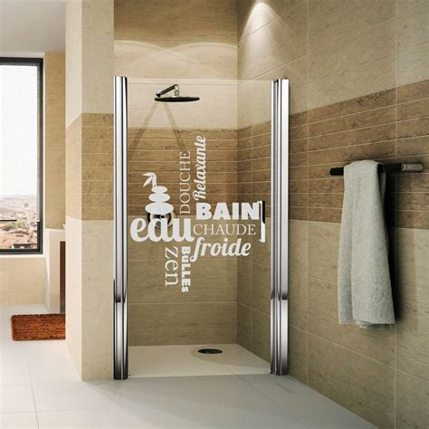 shower door wall decal douche zen wall decals wall decal