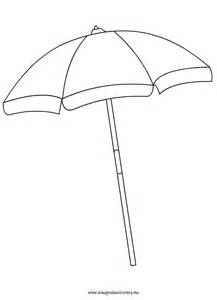 beach umbrella coloring page summer pinterest