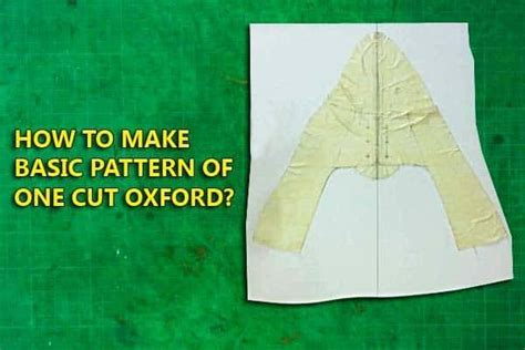 pattern making free online course one cut oxford shoes how to make basic pattern 06