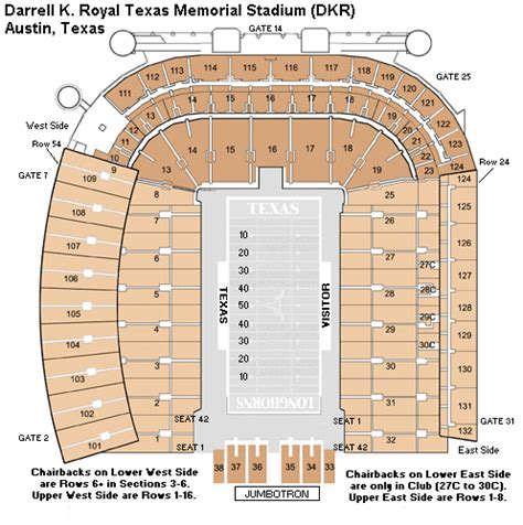 texas stadium map new seating chart for dkr football stadium